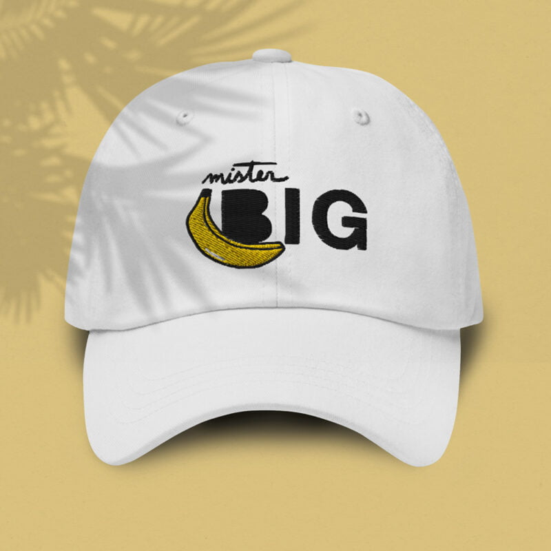 """Cap with a sexy embroidery. It represents a banana and the text """"Mister Big"""". Cap - LGBTQ+ Gay Pride Apparel - banana casquette 1"""