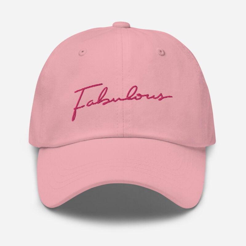 Dad hat with pink embroidery. The word Fabulous is handwritten on this cap. Cap - LGBTQ+ Gay Pride Apparel - classic dad hat pink front 60a2b95e96c1d