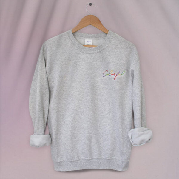 Colorful embroidery - Unisex Relax fit Sweatshirt