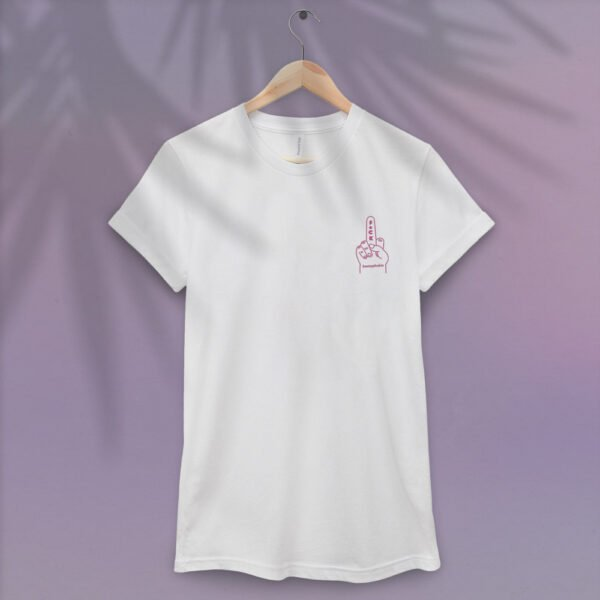 F*ck Homophobia Pink embroidery - Unisex T-Shirt
