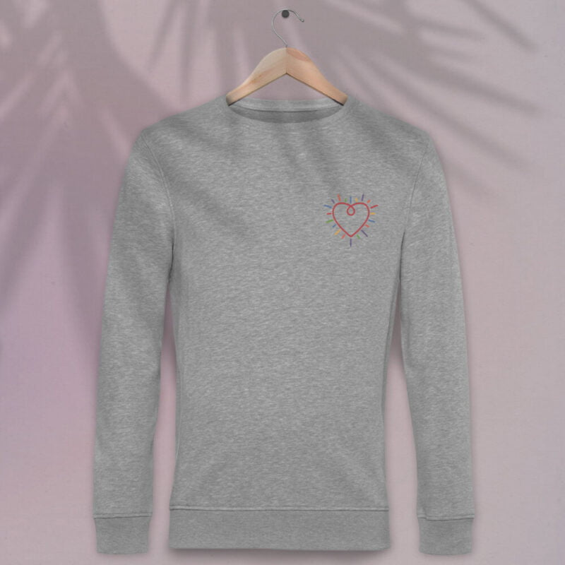 This premium sweat has a heart embroidered on the chest. It's perfect to show how big and colorful is your heart. Sweats - LGBTQ+ Gay Pride Apparel - heart normalsweat 1
