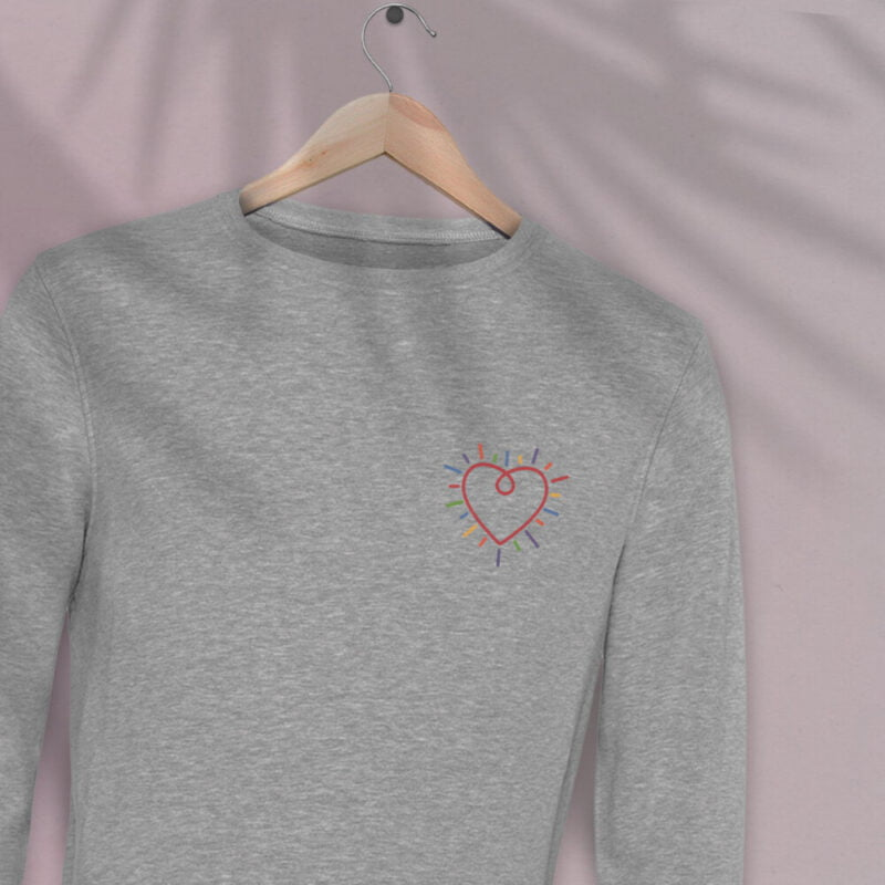 This premium sweat has a heart embroidered on the chest. It's perfect to show how big and colorful is your heart. Sweats - LGBTQ+ Gay Pride Apparel - heart normalsweat 2
