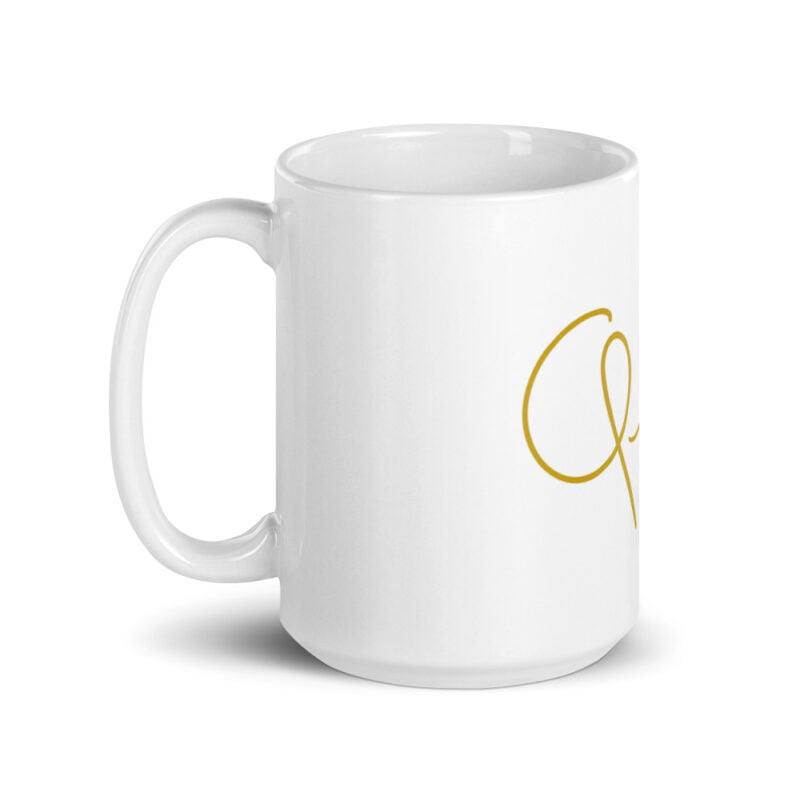Mug for the true queens. It represents the word Queen handwritten with a little crown. Mugs - LGBTQ+ Gay Pride Apparel - white glossy mug 15oz handle on left 60af756d848dd